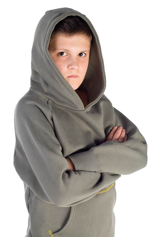 Young hooded boy